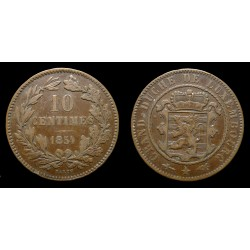 Luxembourg - Guillaume III - 10 centimes 1854 - Utrecht