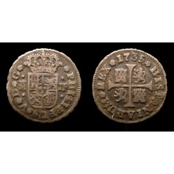 Espagne / Spain - Philippe V - 1/2 Real 1735
