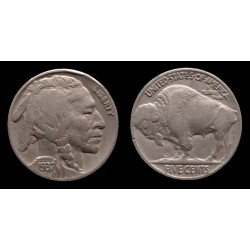 Etats-Unis / United States - Buffalo 5 Cents 1937