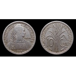 Indochine / French Indochina - 10 Centimes 1939 - Magnétique