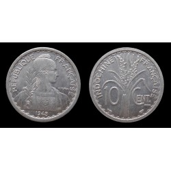 DB - Indochine / French Indochina - 10 Centimes 1945 - Qualité / Nice grade