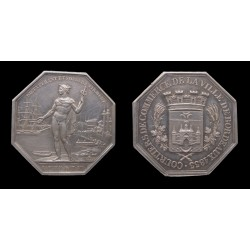 France - Jeton argent / Silver token - Courtiers de Bordeaux