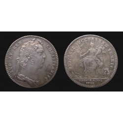 France - Louis XV - Jeton argent / Silver token 1731 - Trésor Royal
