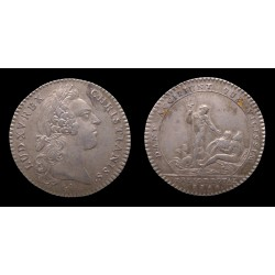 France - Louis XV - Jeton argent / Silver token 1758 - Trésor Royal