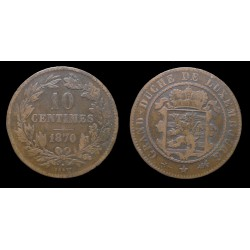 Luxembourg - Guillaume III - 10 centimes 1870
