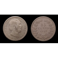 Pays-Bas - Willem III - 25 Cents argent 1889
