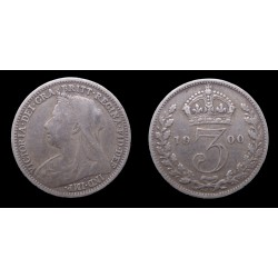 Grande-Bretagne / Great Britain - Victoria - 3 Pence 1900 - Old head