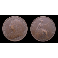 Grande-Bretagne / Great Britain - Victoria - Penny 1899 - Old head