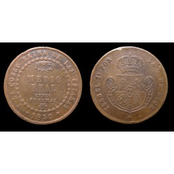 Espagne - Isabelle II - Medio (1/2) Real 1850