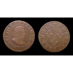 France - Henri III - Double tournois non daté - Paris