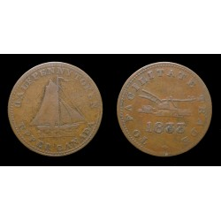 Canada - Jeton Sloop 1/2 penny 1833 - To facilitate trade