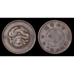 Chine - Yunnan - 50 Cents argent (1911-1915)