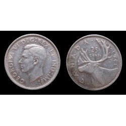 Canada - Georges VI - 25 Cents argent 1941