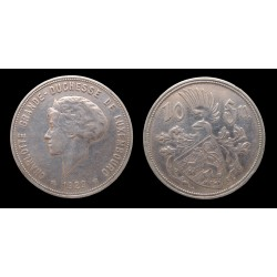Luxembourg - Charlotte - 10 Francs argent 1929