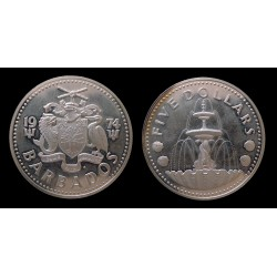 Barbade - 5 Dollars argent 1974
