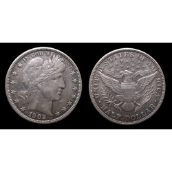 Etats-Unis / United States - Barber Half dollar 1902