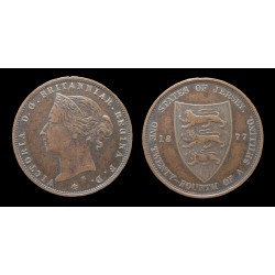 Jersey - Victoria - 1/24 Shilling 1877 H