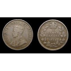 Canada - Georges V - 5 Cents argent 1911
