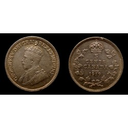 Canada - Georges V - 5 Cents 1919
